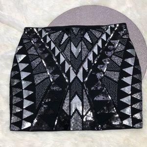 Express Sequin Mini Skirt XS